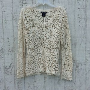 Simply Irresistible crochet lace top